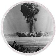 Atomic Bomb Explosion Round Beach Towel
