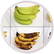 Banana Ripening Sequence Round Beach Towel