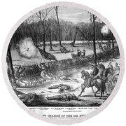 Battle Of Shiloh, 1862 Round Beach Towel