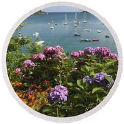 Bay Beside Glandore Village In West Round Beach Towel