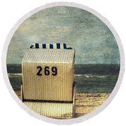 Beach Chair Round Beach Towel by Joana Kruse
