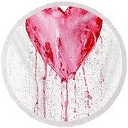Bleeding Heart Round Beach Towel