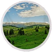 Bridger Mountain View Round Beach Towel