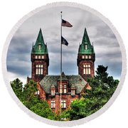 Buffalo Psychiatric Center Round Beach Towel