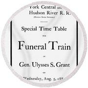Burial Of Ulysses S. Grant Round Beach Towel