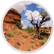 Canyonlands Needles District Round Beach Towel