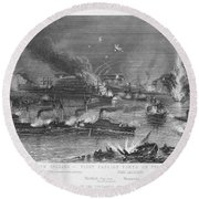 Capture Of New Orleans Round Beach Towel
