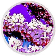 Cherry Blossom Art Round Beach Towel