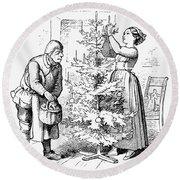 Christmas Tree Round Beach Towel