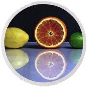 Citrus Fruits Round Beach Towel by Joana Kruse