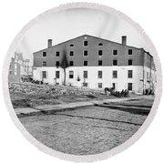 Civil War: Libby Prison Round Beach Towel