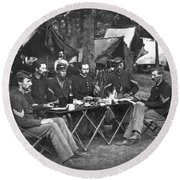 Civil War Soldiers Round Beach Towel