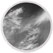 Cloud Imagery Round Beach Towel