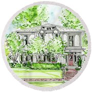Custom House Rendering Round Beach Towel