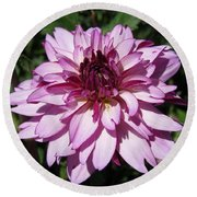 Dahlia Named Lauren Michelle Round Beach Towel