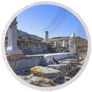 Delos Round Beach Towel