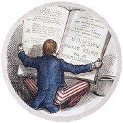 Election Cartoon, 1876 Round Beach Towel