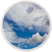 English Summer Sky Round Beach Towel