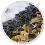 Giants Causeway, Co Antrim, Ireland Round Beach Towel