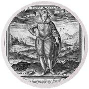 Henry IIi (1551-1589) Round Beach Towel