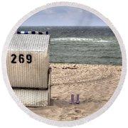 Hoernum - Sylt Round Beach Towel by Joana Kruse