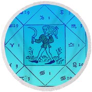 Horoscope Types, Engel, 1488 Round Beach Towel