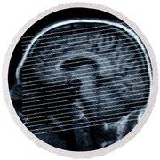Human Brain Round Beach Towel