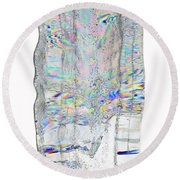 Icicle Cross Section Round Beach Towel