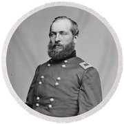 James A. Garfield (1831-1881) Round Beach Towel