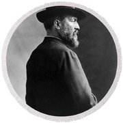 James A. Garfield, 20th American Round Beach Towel by Photo Researchers