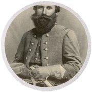 Jeb Stuart, Confederate General Round Beach Towel