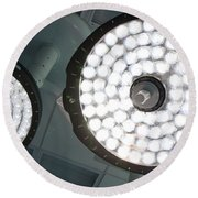 Led Surgical Lights Round Beach Towel