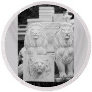 3 Lions Round Beach Towel