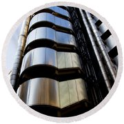 Lloyds Building Central London  Round Beach Towel