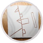 Love - Tile Round Beach Towel