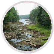 Low Tide In Maine Part Of A Series Round Beach Towel