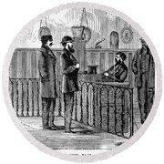 Ludlow Street Jail, 1868 Round Beach Towel