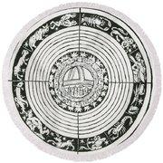 Medieval Zodiac Round Beach Towel by Science Source