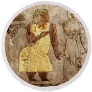 Muscular Dystrophy, Ancient Egypt Round Beach Towel