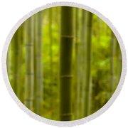 Mystical Bamboo Round Beach Towel