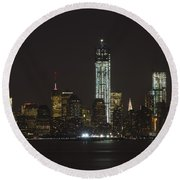 Nyc Harbor View Round Beach Towel