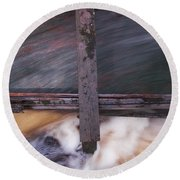 Old Mill Canal Round Beach Towel