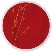 Omega Particle, 3rd Observation Round Beach Towel