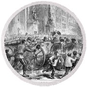 Paris Commune, 1871 Round Beach Towel