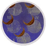 Phases Of An Eclipse Round Beach Towel