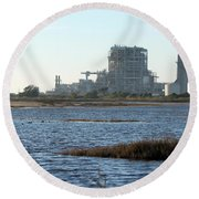 Power Station Round Beach Towel by Henrik Lehnerer