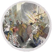 Presidential Campaign, 1844 Round Beach Towel