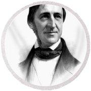 Ralph Waldo Emerson, American Author Round Beach Towel