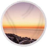 Reculver Sunset Round Beach Towel
