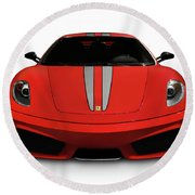 Red Ferrari F430 Scuderia Round Beach Towel